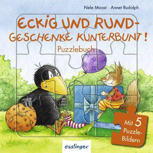 Nele Moost - Eckig und rund – Geschenke kunterbunt! Puzzlebuch: Mit 5 Puzzle-Bildern - Preis vom 18.06.2021 04:47:54 h