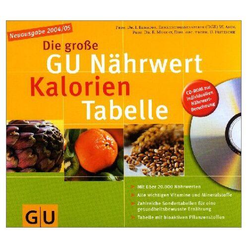 Elmadfa, Prof. Dr. Ibrahim - Die große Nährwert-Kalorien-Tabelle mit CD-Rom. GU Tabellen - Preis vom 12.06.2021 04:48:00 h