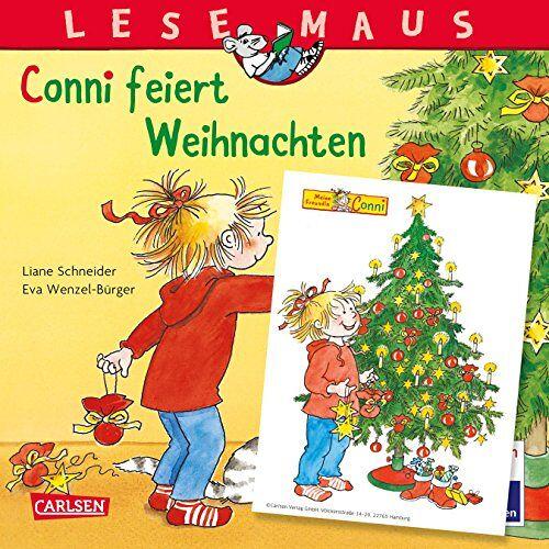 Liane Schneider - LESEMAUS 58: Conni feiert Weihnachten: Mit weihnachtlichem Conni-Fensterbild - Preis vom 14.06.2021 04:47:09 h