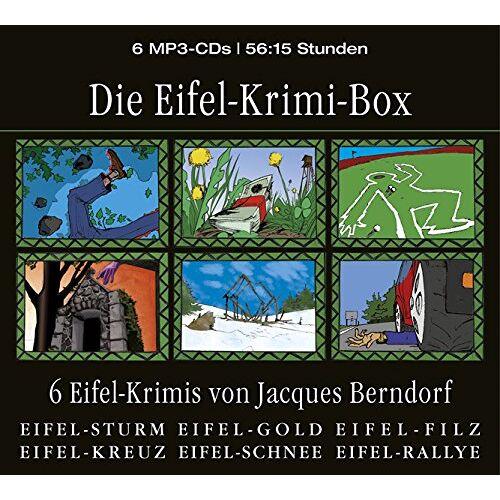 Jacques Berndorf - Die Eifel-Krimi-Box (6 Eifel-Krimis von Jacques Berndorf) - Preis vom 17.06.2021 04:48:08 h