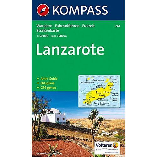 KOMPASS-Karten GmbH - Kompass Karten, Lanzarote (KOMPASS-Wanderkarten, Band 241) - Preis vom 19.06.2021 04:48:54 h