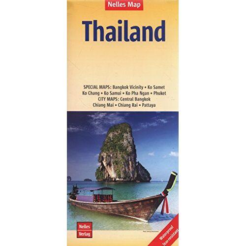 Nelles Verlag - Nelles Map Landkarte Thailand: 1:1.500.000   reiß- und wasserfest; waterproof and tear-resistant; indéchirable et imperméable; irrompible & impermeable - Preis vom 18.05.2021 04:45:01 h