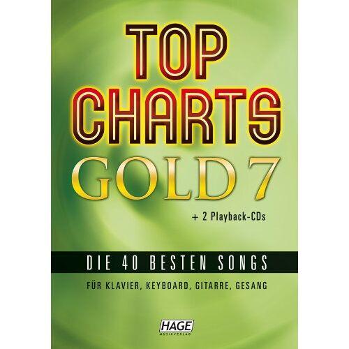 Helmut Hage - Top Charts Gold 7 mit 2 Playback CDs: Die 40 besten Songs für Klavier, Keyboard, Gitarre und Gesang - Preis vom 13.05.2021 04:51:36 h