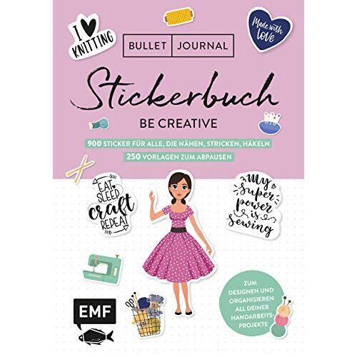 - Bullet Journal – Stickerbuch – Be creative: Über 1300 Sticker für alle, die nähen, stricken, häkeln – 250 Vorlagen zum Abpausen - Preis vom 15.01.2021 06:07:28 h