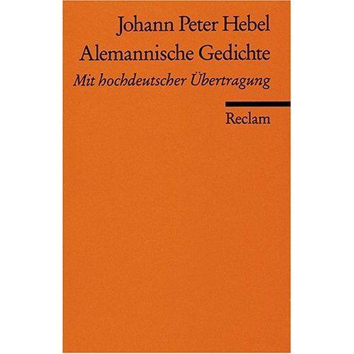 Hebel, Johann P - Alemannische Gedichte: Aleman. /Dt. - Preis vom 05.09.2020 04:49:05 h