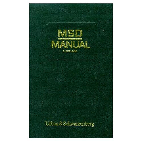 - MSD- Manual der Diagnostik und Therapie. Mit Daumenregister - Preis vom 27.02.2021 06:04:24 h