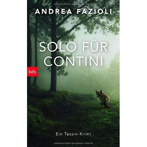 Andrea Fazioli - Solo für Contini: Ein Tessin-Krimi (Privatdetektiv Elia Contini ermittelt, Band 4) - Preis vom 06.05.2021 04:54:26 h