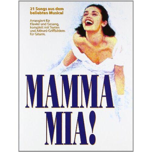 Abba - Mamma Mia: 21 Songs aus dem beliebten Musical. Arrangiert für Klavier und Gesang, komplett mit Texten und Akkord-Griffbildern für Gitarre: SONGS: ... für die Lieder (Thank You For The Music) - Preis vom 28.02.2021 06:03:40 h