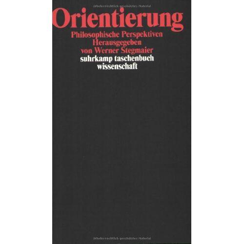 Werner Stegmaier - Orientierung: Philosophische Perspektiven (suhrkamp taschenbuch wissenschaft) - Preis vom 09.05.2021 04:52:39 h