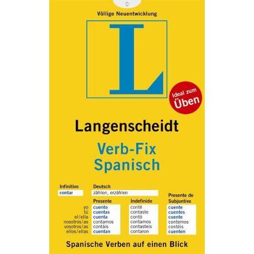 Langenscheidt, Redaktion von - Langenscheidt Verb-Fix Spanisch - Verb-Fix (Langenscheidt Verb-Fixe) - Preis vom 05.09.2020 04:49:05 h