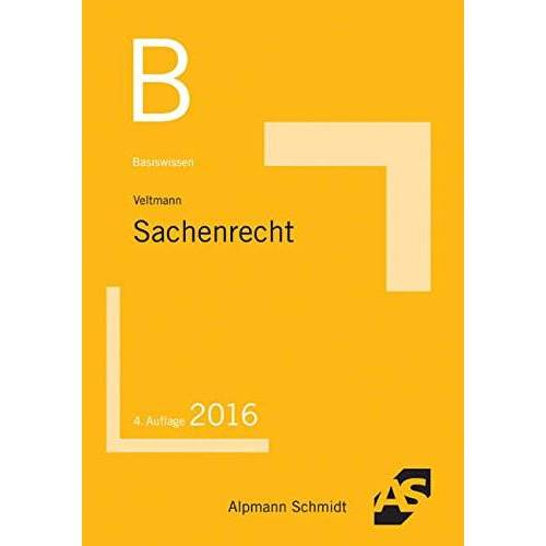 Till Veltmann - Basiswissen Sachenrecht - Preis vom 06.09.2020 04:54:28 h