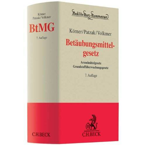 Körner, Harald Hans - Betäubungsmittelgesetz: Arzneimittelgesetz - Grundstoffüberwachungsgesetz - Preis vom 10.05.2021 04:48:42 h