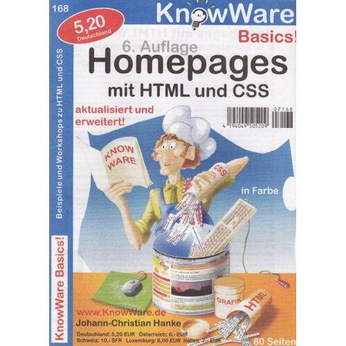 Johann-Christian Hanke - Homepages mit HTML und CSS. Beispiele und Workshops - Preis vom 10.05.2021 04:48:42 h