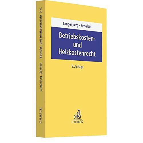 Hans Langenberg - Betriebskosten- und Heizkostenrecht - Preis vom 21.10.2020 04:49:09 h