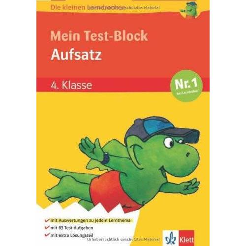 - Die kleinen Lerndrachen, Mein Test-Block Aufsatz 4. Klasse - Preis vom 05.09.2020 04:49:05 h