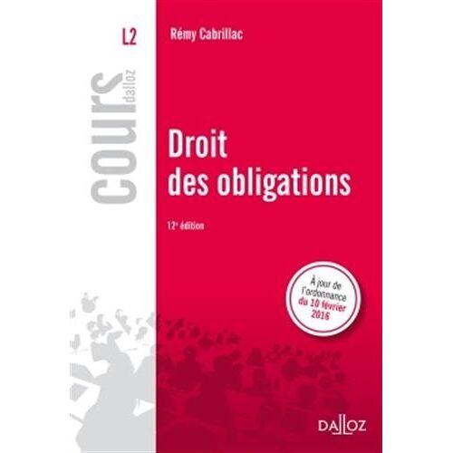 Rémy Cabrillac - Droit des obligations - Preis vom 05.09.2020 04:49:05 h