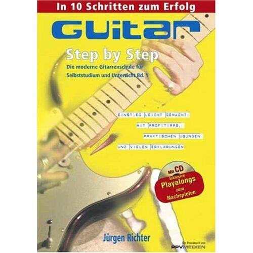 Jürgen Richter - Gitarre Step by Step: Die moderne Gitarrenschule für Selbststudium und Unterricht Bd. 1 - Preis vom 20.10.2020 04:55:35 h