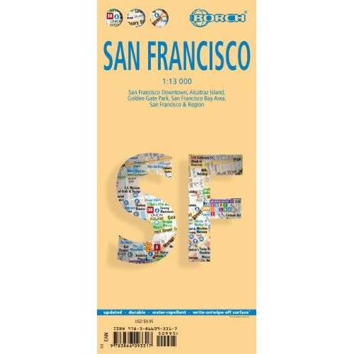 - San Francisco 1 : 13 000: San Francisco Downtown, Alcatraz Island, Golden Gate Park, San Francisco Bay Area, San Francisco & Region - Preis vom 22.01.2021 05:57:24 h