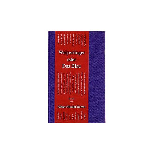 Herbst, Alban N - Wolpertinger Oder Das Blau: Roman - Preis vom 20.04.2021 04:49:58 h
