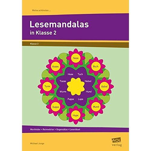 Michael Junga - Meine schönsten Lesemandalas Klasse 2: Wortfelder - Reimwörter - Gegensätze - Leserätsel (Meine schönsten Mandalas) - Preis vom 07.05.2021 04:52:30 h