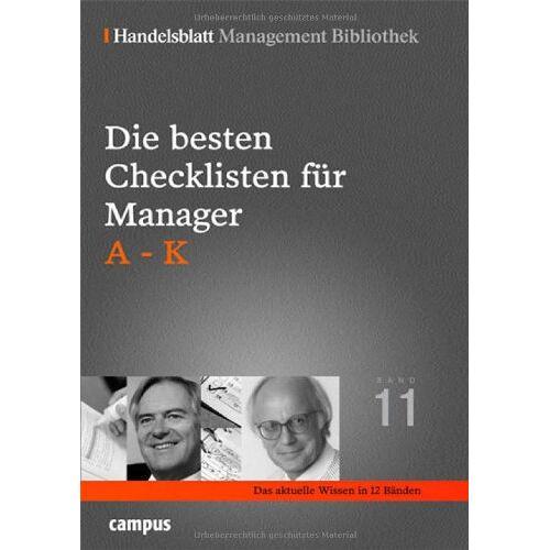 Handelsblatt - Die besten Checklisten für Manager. A-K (Handelsblatt Management Bibliothek) - Preis vom 05.03.2021 05:56:49 h