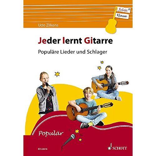 Udo Zilkens - Jeder lernt Gitarre - Populäre Lieder und Schlager: JelGi-Liederbuch für allgemein bildende Schulen. Gitarre. Lehrbuch. - Preis vom 21.02.2020 06:03:45 h