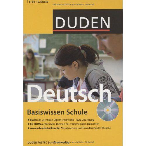 Simone Felgentreu - Duden. Basiswissen Schule. Deutsch 5. bis 10. Klasse: Buch / CD-ROM / Internet - Preis vom 24.06.2020 04:58:28 h