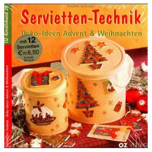 Susanne Hoffmann - Servietten-Technik, Deko-Ideen Advent & Weihnachten, m. 12 Servietten - Preis vom 15.04.2021 04:51:42 h