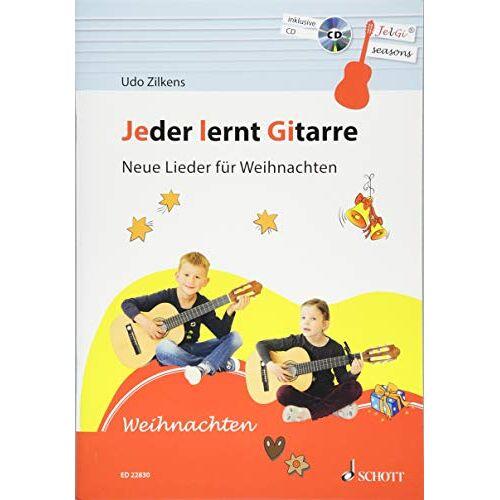 Udo Zilkens - Jeder lernt Gitarre - Neue Lieder für Weihnachten: JelGi-Liederbuch für allgemein bildende Schulen. Gitarre. Lehrbuch mit CD. - Preis vom 21.02.2020 06:03:45 h