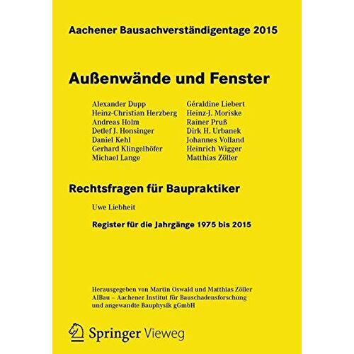 Martin Oswald - Aachener Bausachverständigentage 2015: Außenwände und Fenster - Preis vom 20.10.2020 04:55:35 h