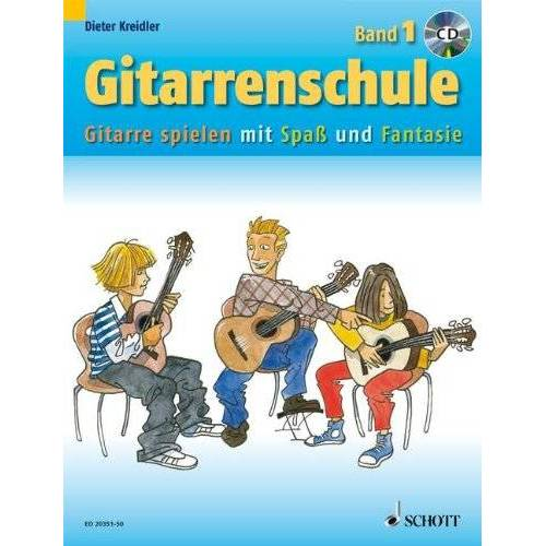 Dieter Kreidler - Gitarrenschule: Gitarre spielen mit Spaß und Fantasie - Neufassung. Band 1. Gitarre. Ausgabe mit CD. - Preis vom 25.02.2020 06:03:23 h