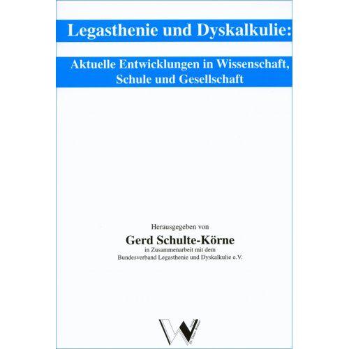 Gerd Schulte-Körne - Legasthenie und Dyskalkulie - Preis vom 25.10.2020 05:48:23 h