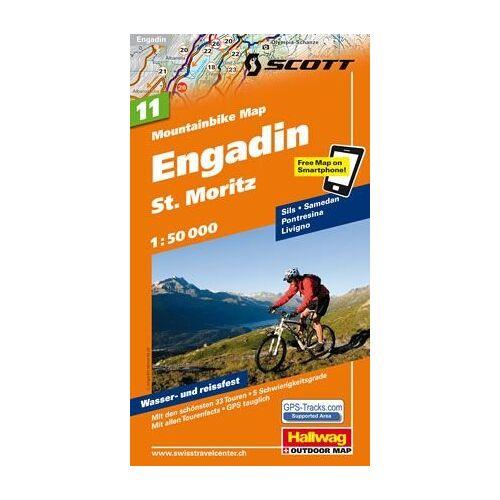 Hallwag - MTB-Karte 11 Engadin - St. Moritz 1:50.000: Mountainbike Map (Hallwag Mountainbike-Karten) - Preis vom 15.04.2021 04:51:42 h
