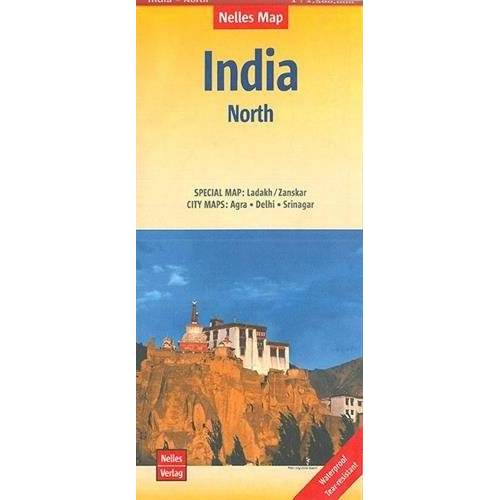 Nelles Verlag - Nelles Map Landkarte India - North: 1 : 1,500,000   reiß- und wasserfest; waterproof and tear-resistant; indéchirable et imperméable; irrompible & impermeable - Preis vom 03.05.2021 04:57:00 h