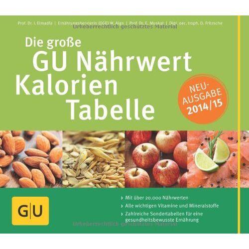 Ibrahim Elmadfa - Die große GU Nährwert-Kalorien-Tabelle 2014/15 (GU Tabellen) - Preis vom 14.01.2021 05:56:14 h