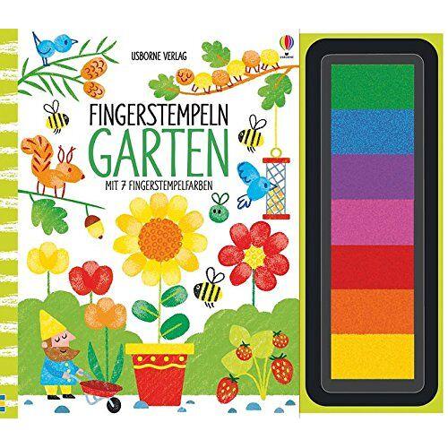 Fiona Watt - Fingerstempeln: Garten: mit 7 Fingerstempelfarben - Preis vom 17.04.2021 04:51:59 h
