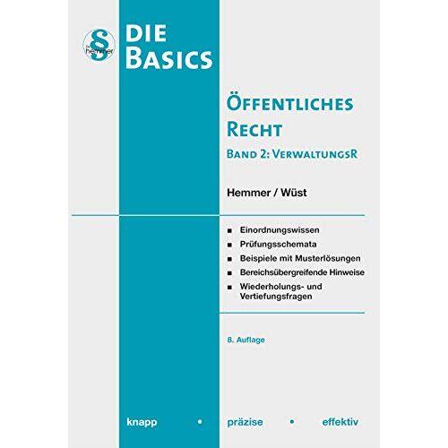Karl-Edmund Hemmer - Basics Öffentliches Recht II: Verwaltungsrecht (Skripten - Öffentliches Recht) - Preis vom 07.05.2021 04:52:30 h