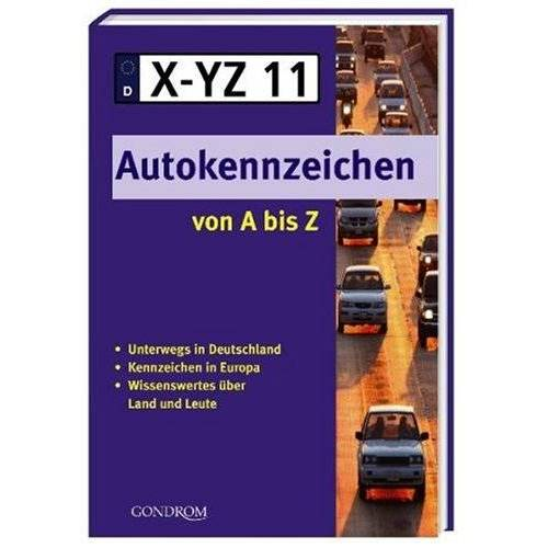 - Autokennzeichen von A bis Z - Preis vom 20.10.2020 04:55:35 h