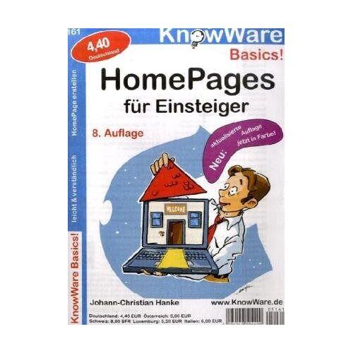 Johann-Christian Hanke - Homepages für Einsteiger - Preis vom 17.04.2021 04:51:59 h