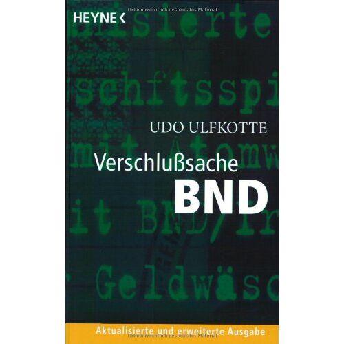 Ulfkotte, Dr. Udo - Verschlusssache BND - Preis vom 25.01.2021 05:57:21 h