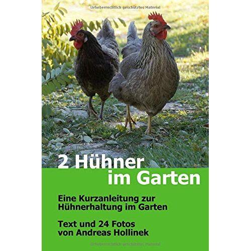 Andreas Hollinek - 2 Hühner im Garten: Eine Kurzanleitung zur Hühnerhaltung im Garten - Preis vom 20.10.2020 04:55:35 h
