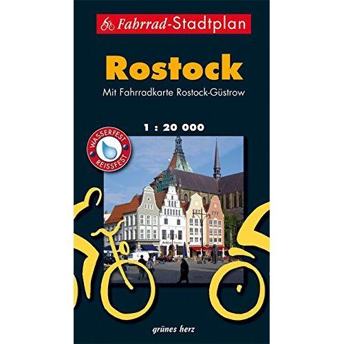 Lutz Gebhardt - Fahrrad-Stadtplan Rostock: Mit Fahrradkarte Rostock-Güstrow. Offizielle Karte des ADFC-Regionalverbandes Rostock e.V. Wasser- und reißfest. (Stadt- und Ortspläne) - Preis vom 20.10.2020 04:55:35 h