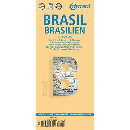 Borch GmbH - Brasilien / Brasil / Brazil 1:4 000 000 (Borch Map) - Preis vom 05.05.2021 04:54:13 h