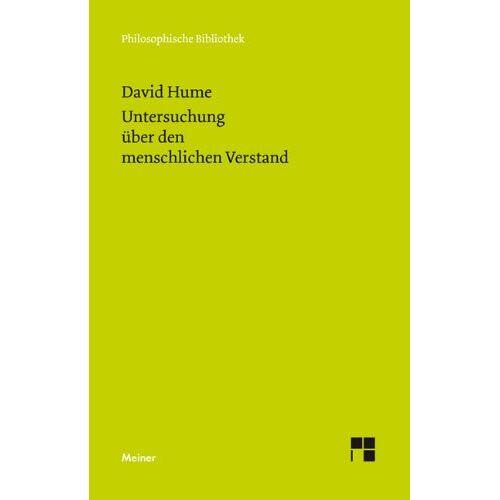 David Hume - Eine Untersuchung über den menschlichen Verstand - Preis vom 05.09.2020 04:49:05 h