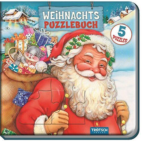 Trötsch Verlag - Weihnachts-Puzzlebuch: 5 Puzzles mit Farbvorlage - Preis vom 13.05.2021 04:51:36 h
