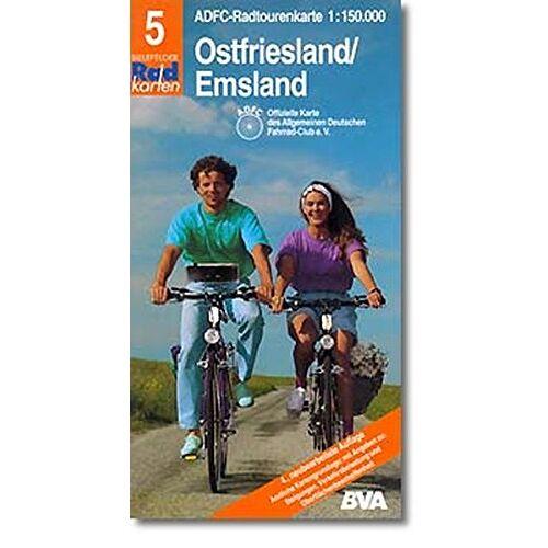 ADFC, 5 RADTOURENKARTE - Radtourenkarten 1:150000 (ADFC): ADFC Radtourenkarten, Ostfriesland, Emsland - Preis vom 20.10.2020 04:55:35 h