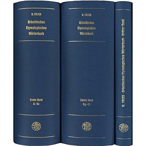 Hjalmar Frisk - Griechisches etymologisches Wörterbuch / Griechisches etymologisches Wörterbuch: Kr - Omega (Indogermanische Bibliothek, 2. Reihe: Wörterbücher) - Preis vom 07.05.2021 04:52:30 h