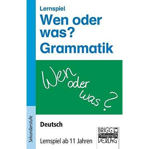 - Lernspiele - Deutsch: Wen oder was? Grammatik: Deutsch - Lernspiel ab 11 Jahren. Lernspiel - Preis vom 13.09.2019 05:32:03 h