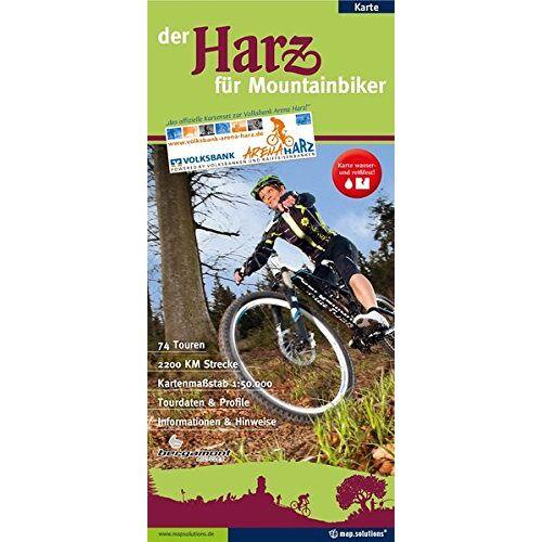 mapsolutions GmbH, Agentur & Verlag - Der Harz für Mountainbiker: Offizieller Mountainbikeführer der Volksbank-Arena-Harz - Preis vom 18.04.2021 04:52:10 h