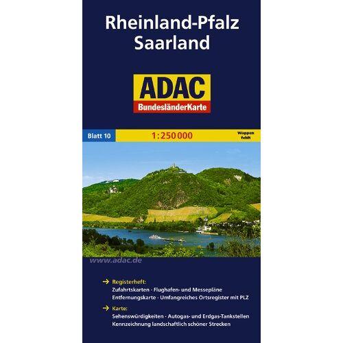 - ADAC Bundesländerkarte Rheinland-Pfalz, Saarland 1:250.000 - Preis vom 06.04.2021 04:49:59 h